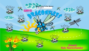 Dragonflies Soccer Banner - Custom Dragonflies Soccer Banner