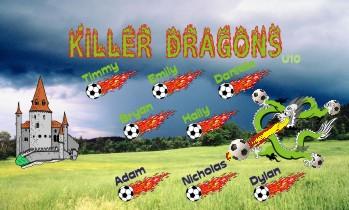 Dragons Soccer Banner - Custom DragonsSoccer Banner