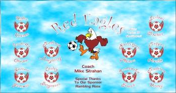 Eagles Soccer Banner - Custom EaglesSoccer Banner