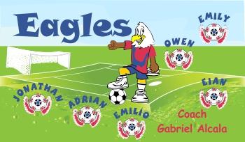 Eagles Soccer Banner - Custom Eagles Soccer Banner