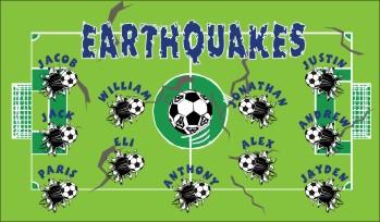 Earthquakes Soccer Banner - Custom Earthquakes Soccer Banner