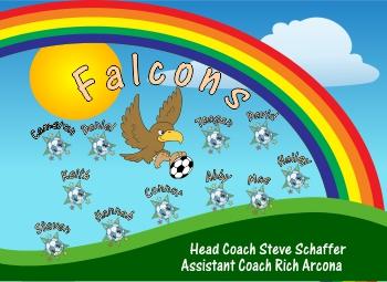 Falcons Soccer Banner - Custom Falcons Soccer Banner