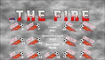 Fire Soccer Banner - Custom Fire Soccer Banner