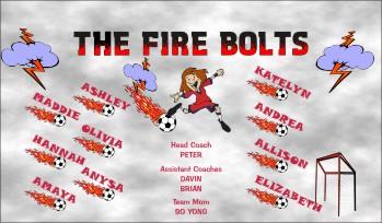 Fire Soccer Banner - Custom FireSoccer Banner