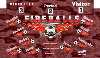 Fireballs Soccer Banner - Custom Fireballs Soccer Banner