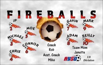 Fireballs Soccer Banner - Custom FireballsSoccer Banner