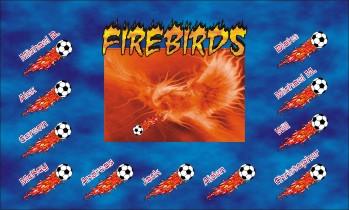 Firebirds Soccer Banner - Custom Firebirds Soccer Banner