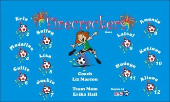 Firecrackers Soccer Banner - Custom FirecrackersSoccer Banner