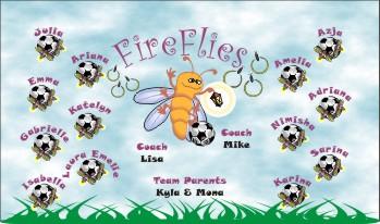 Fireflies Soccer Banner - Custom Fireflies Soccer Banner