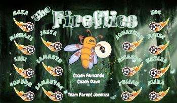 Fireflies Soccer Banner - Custom FirefliesSoccer Banner