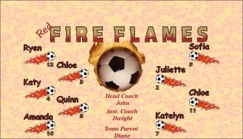 Flames Soccer Banner - Custom FlamesSoccer Banner