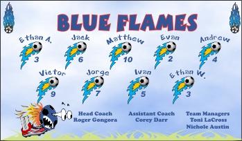 Flames Soccer Banner - Custom Flames Soccer Banner