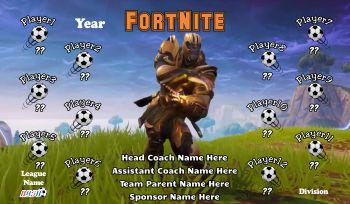 FortNite Soccer Banner - Custom FortNiteSoccer Banner