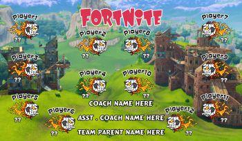 FortNite Soccer Banner - Custom FortNite Soccer Banner