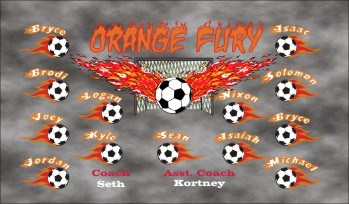 Fury Soccer Banner - Custom Fury Soccer Banner