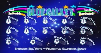 Galaxy Soccer Banner - Custom Galaxy Soccer Banner