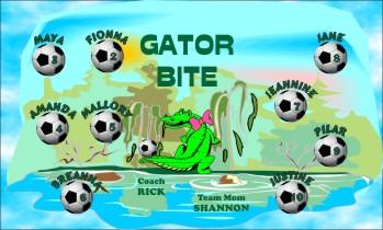 Gators Soccer Banner - Custom GatorsSoccer Banner