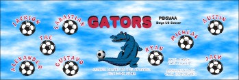 Gators Soccer Banner - Custom Gators Soccer Banner