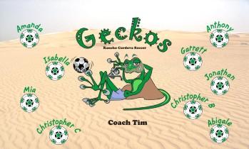 Geckos Soccer Banner - Custom Geckos Soccer Banner