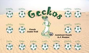 Geckos Soccer Banner - Custom GeckosSoccer Banner