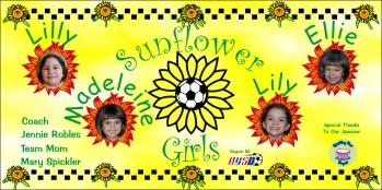 Girls Soccer Banner - Custom GirlsSoccer Banner