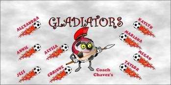 Gladiators Soccer Banner - Custom GladiatorsSoccer Banner