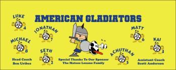 Gladiators Soccer Banner - Custom Gladiators Soccer Banner
