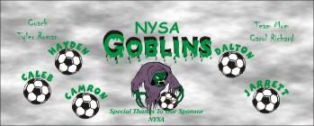 Goblins Soccer Banner - Custom GoblinsSoccer Banner