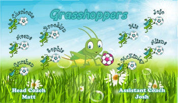 Grasshoppers Soccer Banner - Custom GrasshoppersSoccer Banner