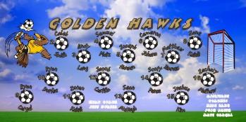 Hawks Soccer Banner - Custom HawksSoccer Banner