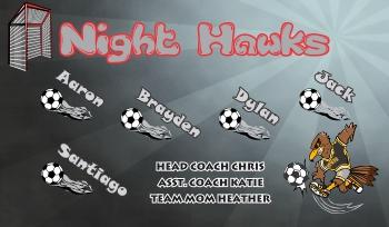 Hawks Soccer Banner - Custom Hawks Soccer Banner