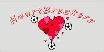Hearts Soccer Banner - Custom HeartsSoccer Banner