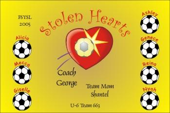 Hearts Soccer Banner - Custom Hearts Soccer Banner