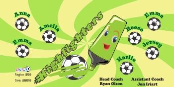 Highlighters Soccer Banner - Custom HighlightersSoccer Banner