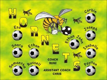 Hornets Soccer Banner - Custom Hornets Soccer Banner