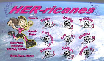 Hurricanes Soccer Banner - Custom HurricanesSoccer Banner