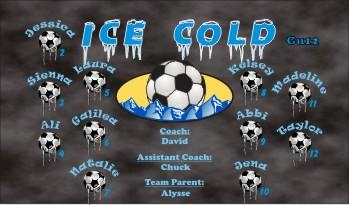 Ice Soccer Banner - Custom Ice Soccer Banner