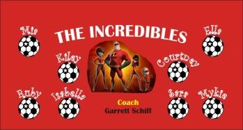 Incredibles Soccer Banner - Custom Incredibles Soccer Banner