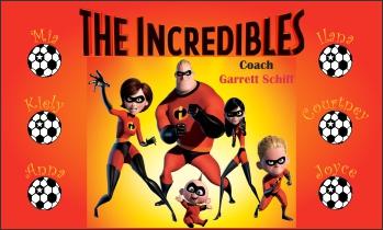 Incredibles Soccer Banner - Custom IncrediblesSoccer Banner