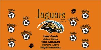 Jaguars Soccer Banner - Custom Jaguars Soccer Banner