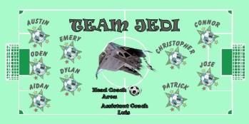 Jedi Soccer Banner - Custom Jedi Soccer Banner