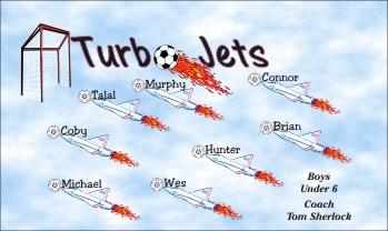 Jets Soccer Banner - Custom JetsSoccer Banner