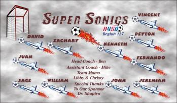Jets Soccer Banner - Custom Jets Soccer Banner