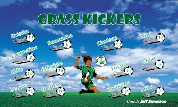 Kickers Soccer Banner - Custom KickersSoccer Banner