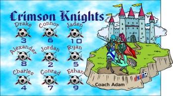 Knights Soccer Banner - Custom KnightsSoccer Banner