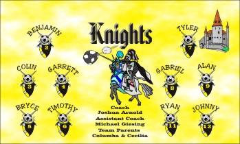 Knights Soccer Banner - Custom Knights Soccer Banner