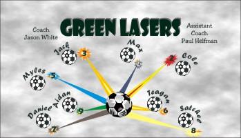 Lasers Soccer Banner - Custom LasersSoccer Banner