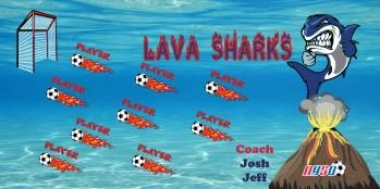 Lava Soccer Banner - Custom LavaSoccer Banner