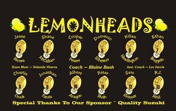 Lemons Soccer Banner - Custom Lemons Soccer Banner
