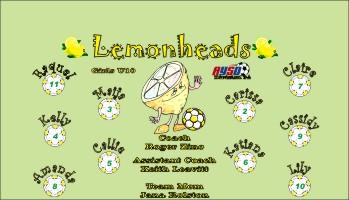 Lemons Soccer Banner - Custom LemonsSoccer Banner